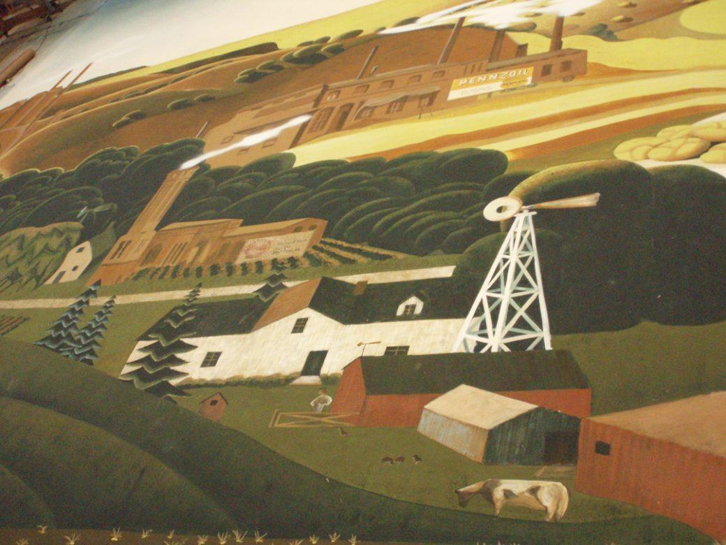 Detail of Music Man backdrop