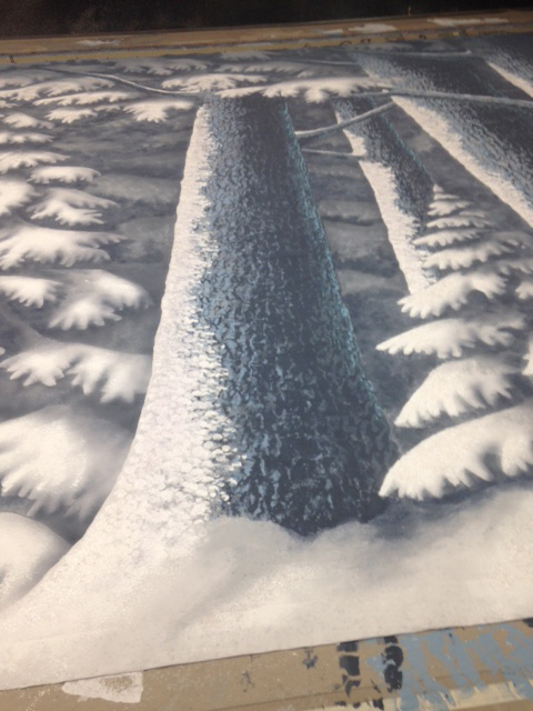 Snow scene - backdrop detail