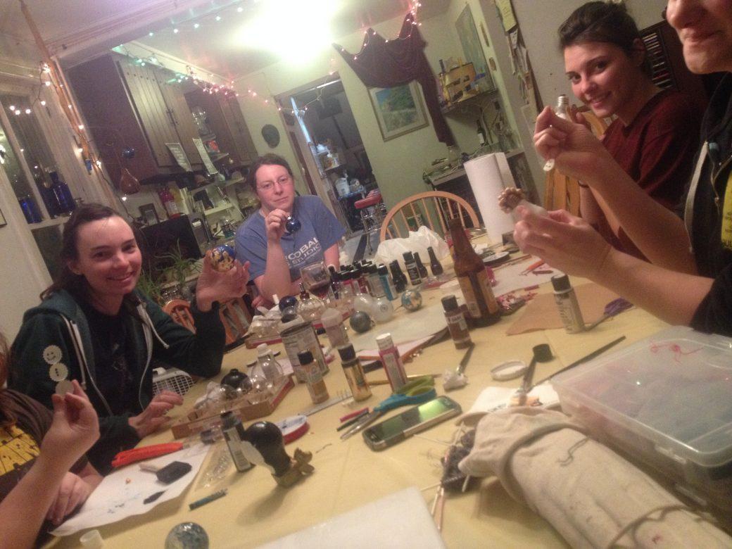 Making cool Christmas ornaments