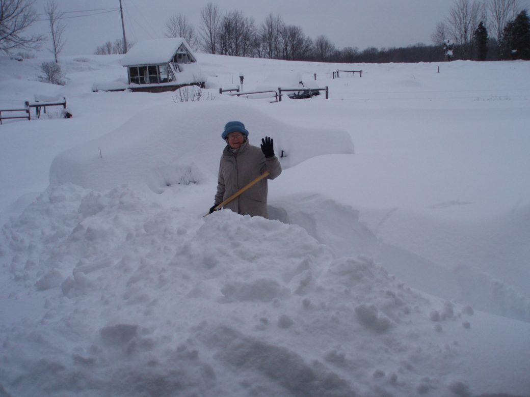 DIGGING OUT VINCENT'S CAR IN '12