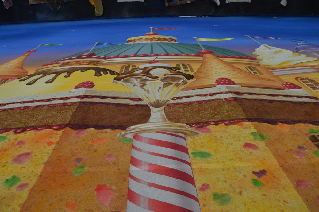 Candy Kingdom Scrim 6'0 x 56' view of center