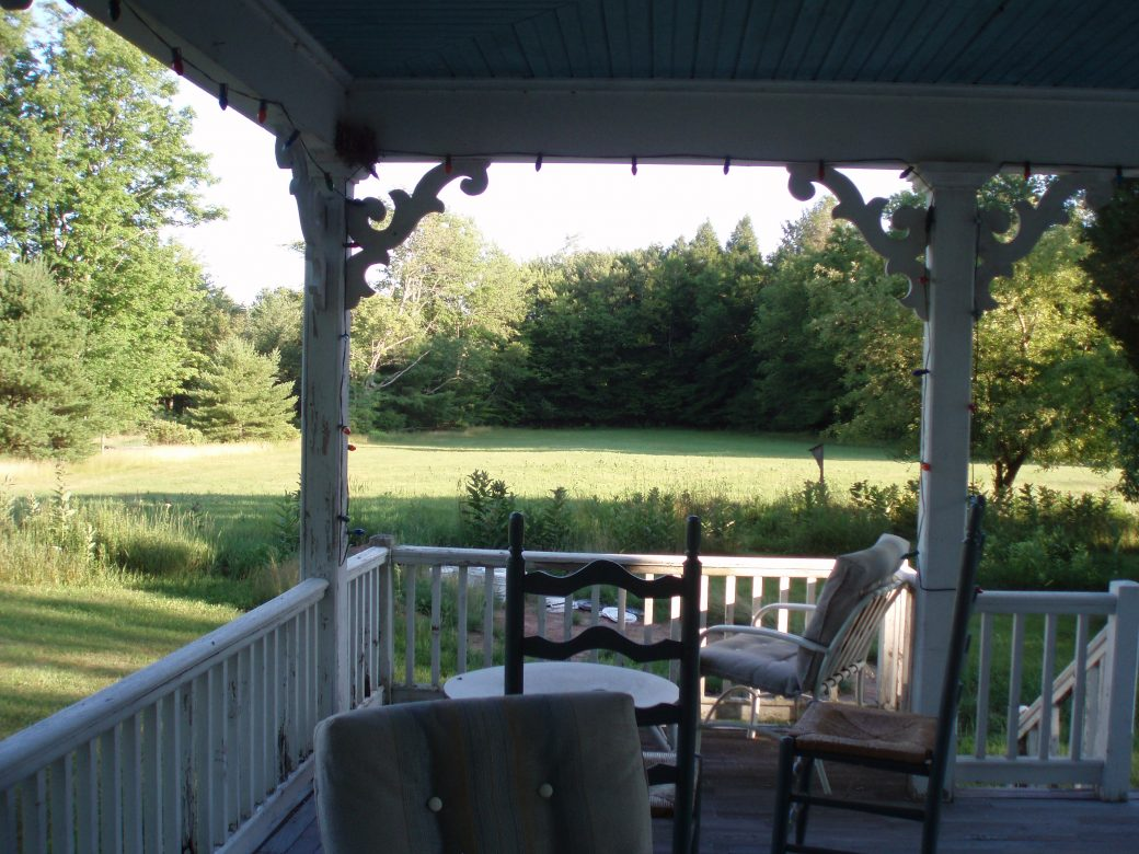 The front porch at Cobalt House